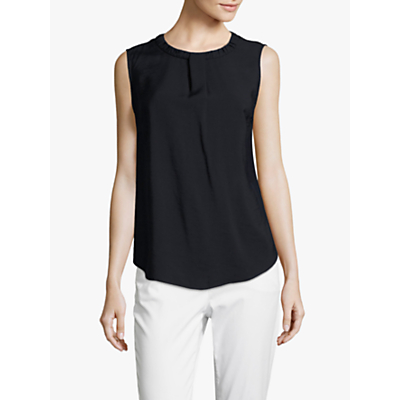 Betty & Co. Sleeveless Blouse, Dark Sapphire