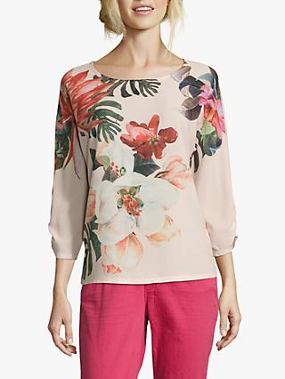 Betty & Co. Floral Print Top, Rosé Apricot