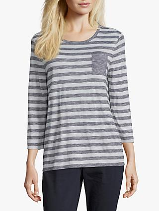 Betty & Co. Striped Jersey Top, Blue/White