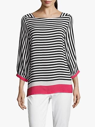 Betty & Co. Striped Blouse, White/Blue