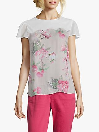 Betty & Co. Floral Print Blouse, Rose/White