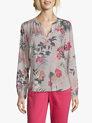 Betty & Co. Floral Print Blouse, Grey