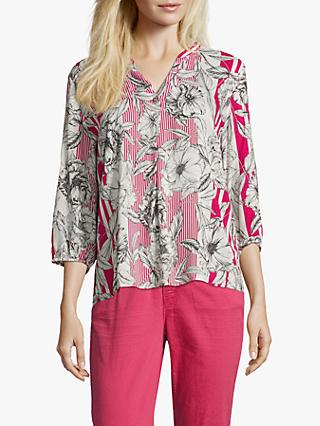 Betty & Co. Floral Print Blouse, Pink/White