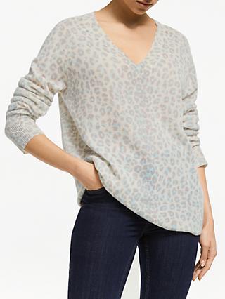 360 Sweater Sylvia Pure Cashmere Leopard Print Jumper dcedf9605