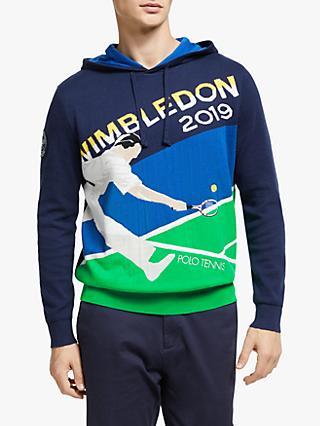 707d0053c0cc5a Polo Ralph Lauren Wimbledon Cotton Cashmere Hoodie, Navy