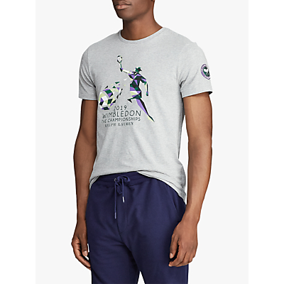 Polo Ralph Lauren Short Sleeve Wimbledon Graphic T-Shirt, Andover Heather