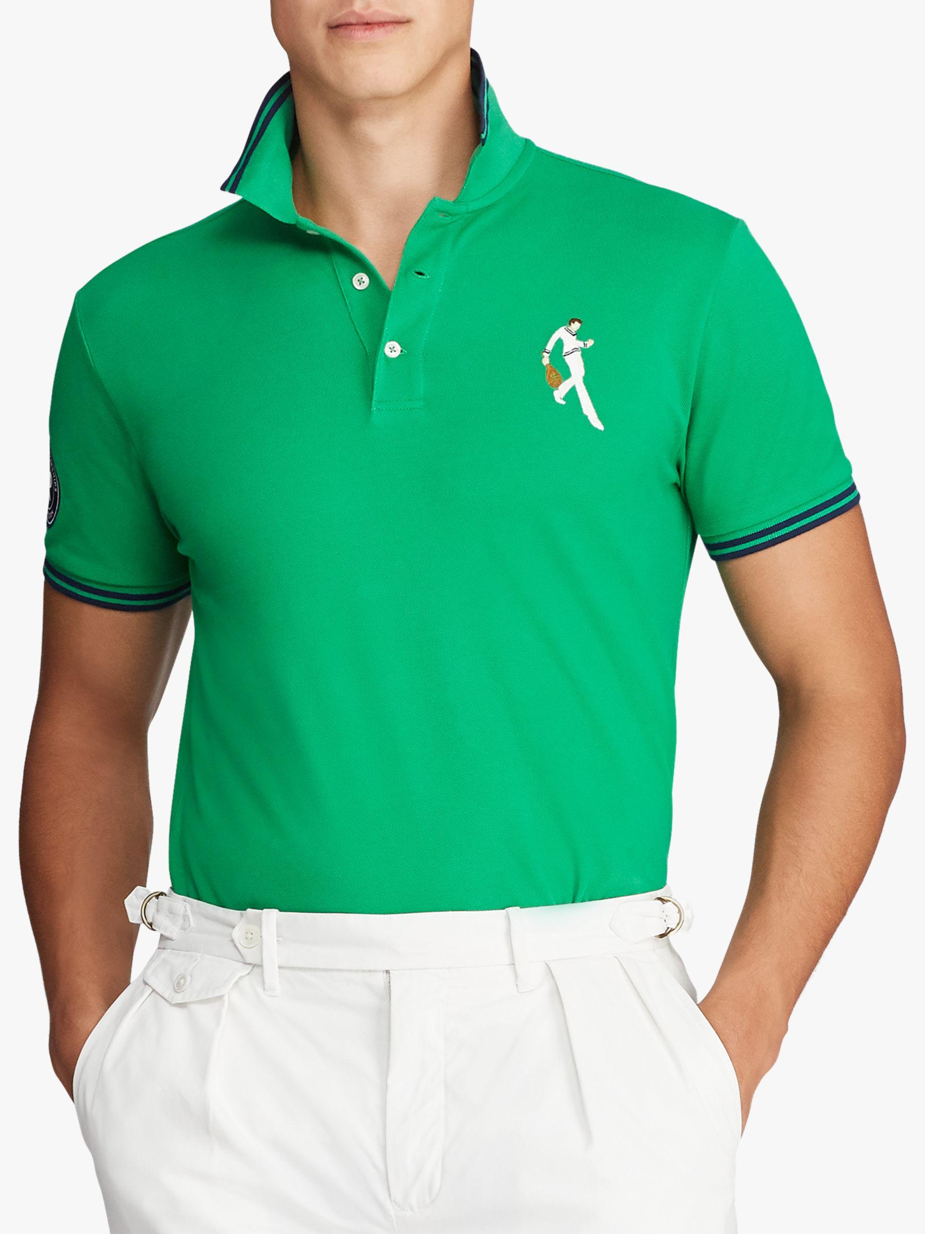 921ef5fff1 Polo Ralph Lauren Wimbledon Custom Slim Fit Polo Top, Stem
