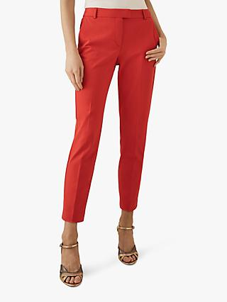 Reiss Joanne Casual Straight Trousers, Red