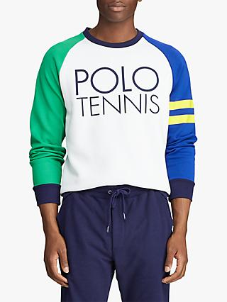 Polo Ralph Lauren Wimbledon Polo Tennis Sweatshirt, Pure White/Multi