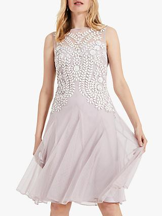 Phase Eight Loreli Embellished Dress, Misty Mauve