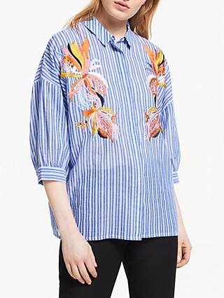 0ad1bf9badb5b Essentiel Antwerp Soultion Stripe Embroidered Shirt