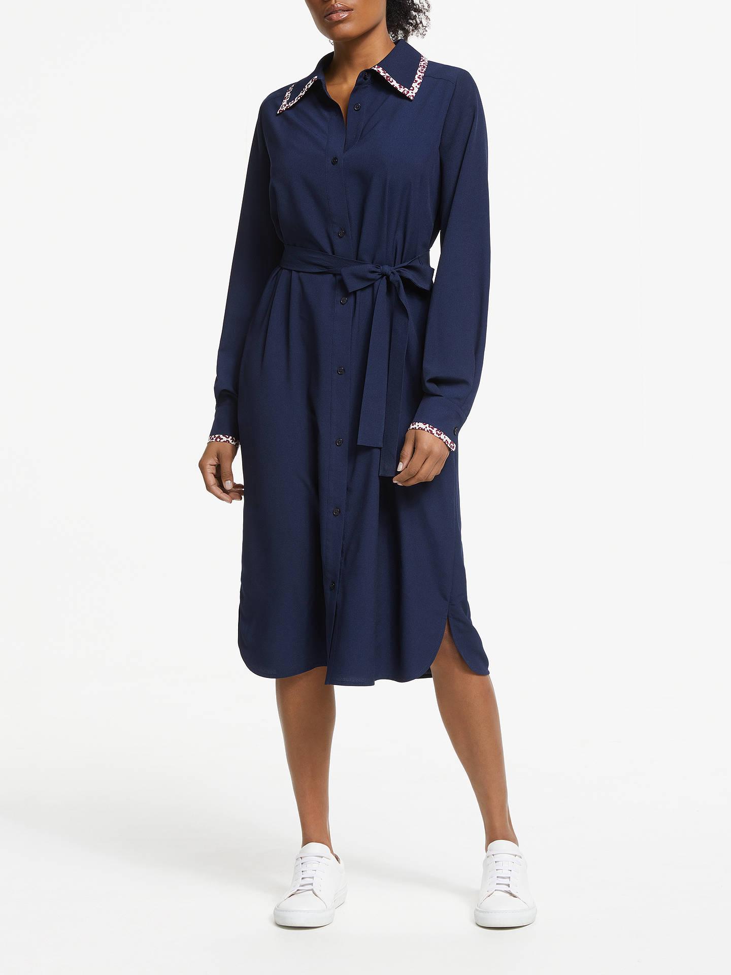 d1c1c27c5e0f1 Buy Essentiel Antwerp Sama Shirt Dress, Navy Blue, 10 Online at  johnlewis.com ...