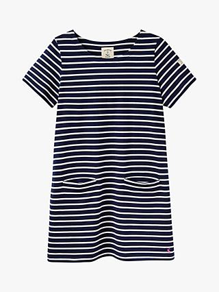 Joules Quinn Stripe Cotton Tunic, Navy/Cream