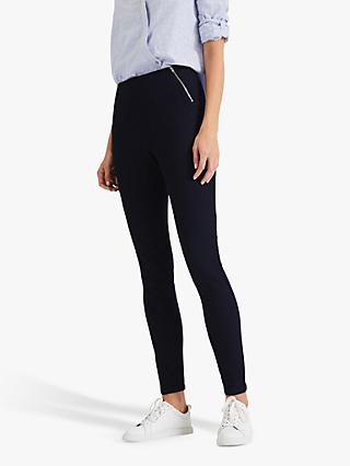 Phase Eight Amina Zip Front Jeggings, Indigo