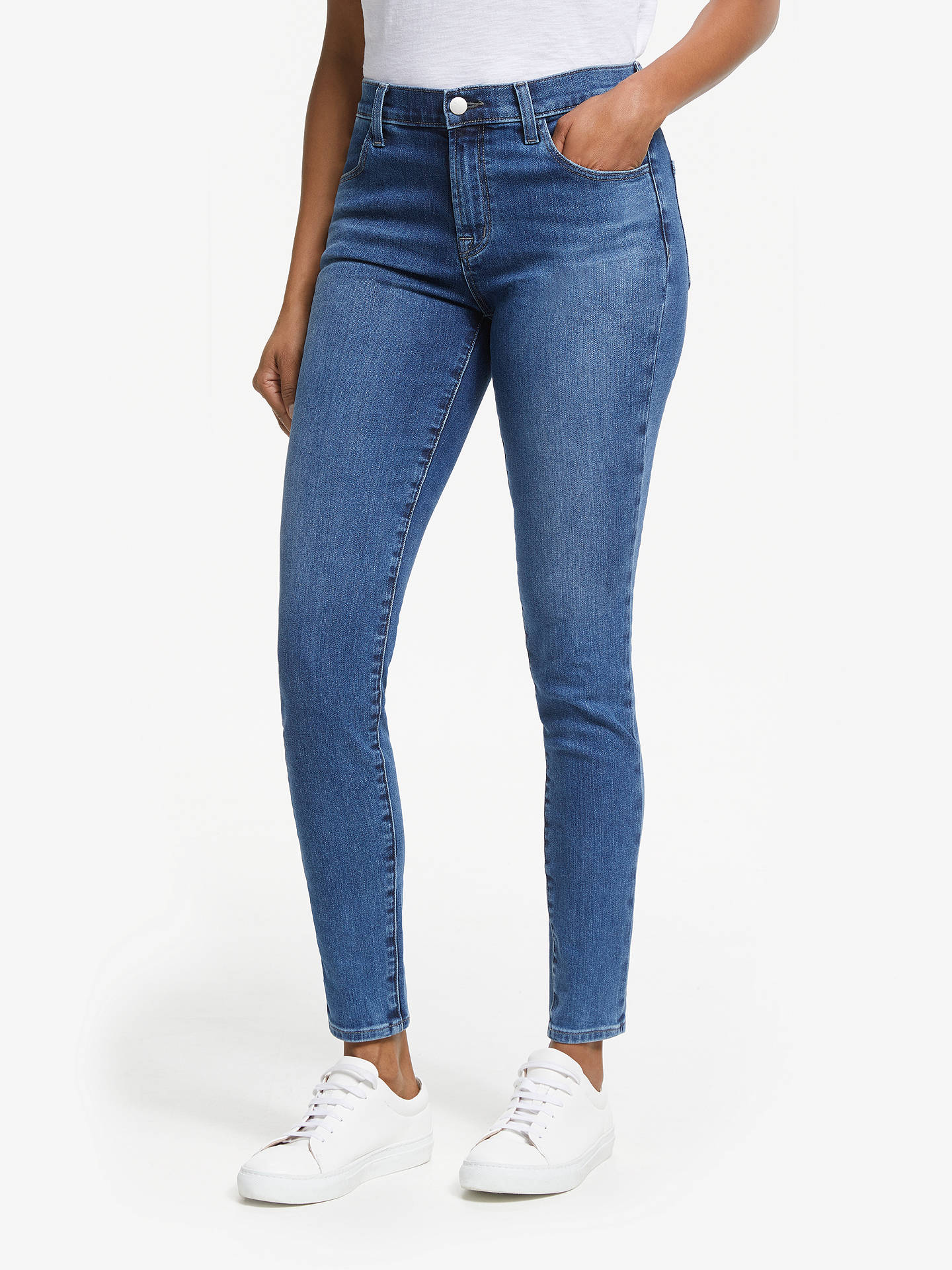 purchase cheap coupon code excellent quality J Brand Maria High Rise Skinny Jeans, Polaris at John Lewis ...
