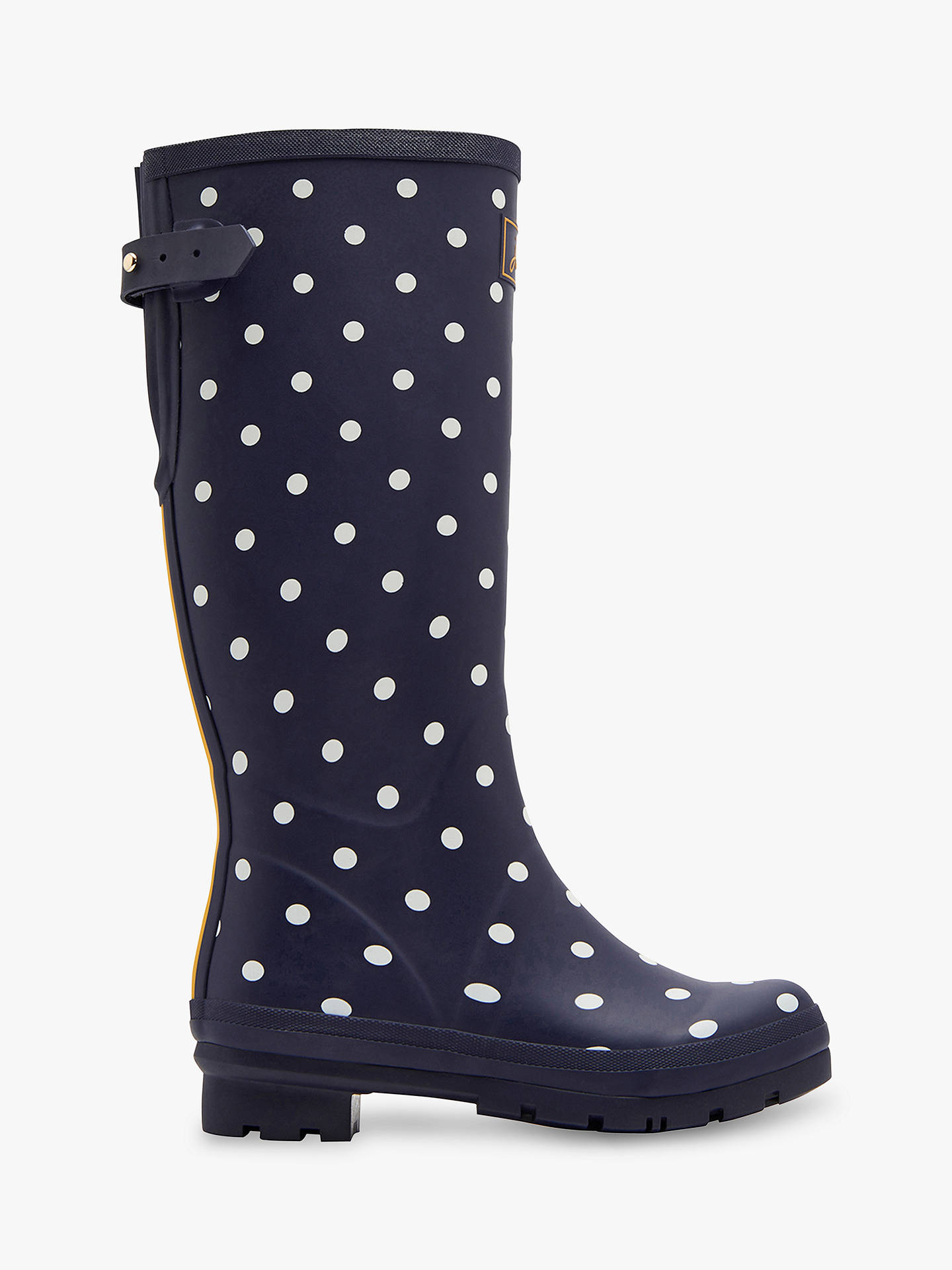 Tie Top Spot On Girls Wellington Boots