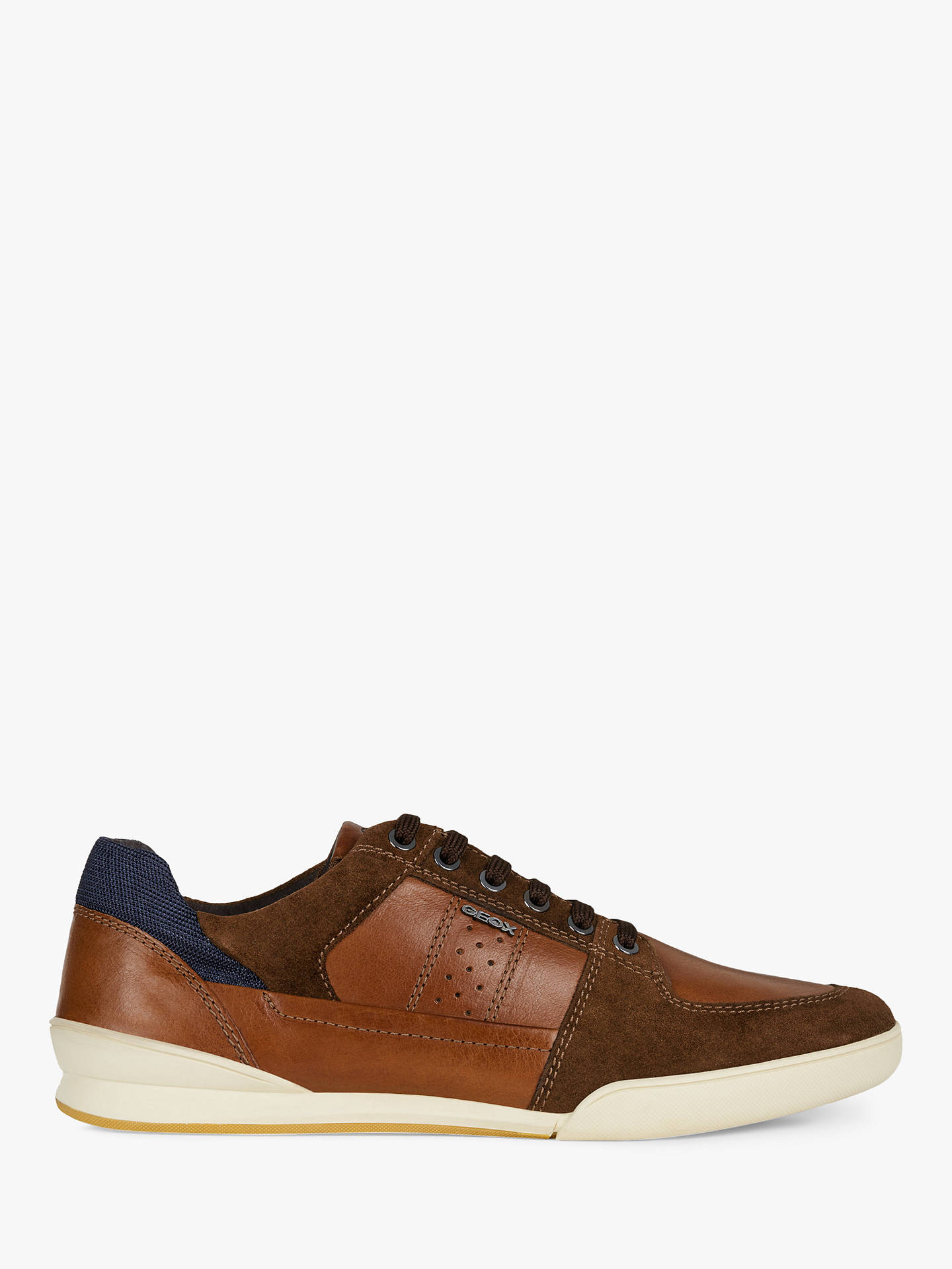 75f1b83ed1e Buy Geox Kristof Trainers, Brown, 7 Online at johnlewis.com ...