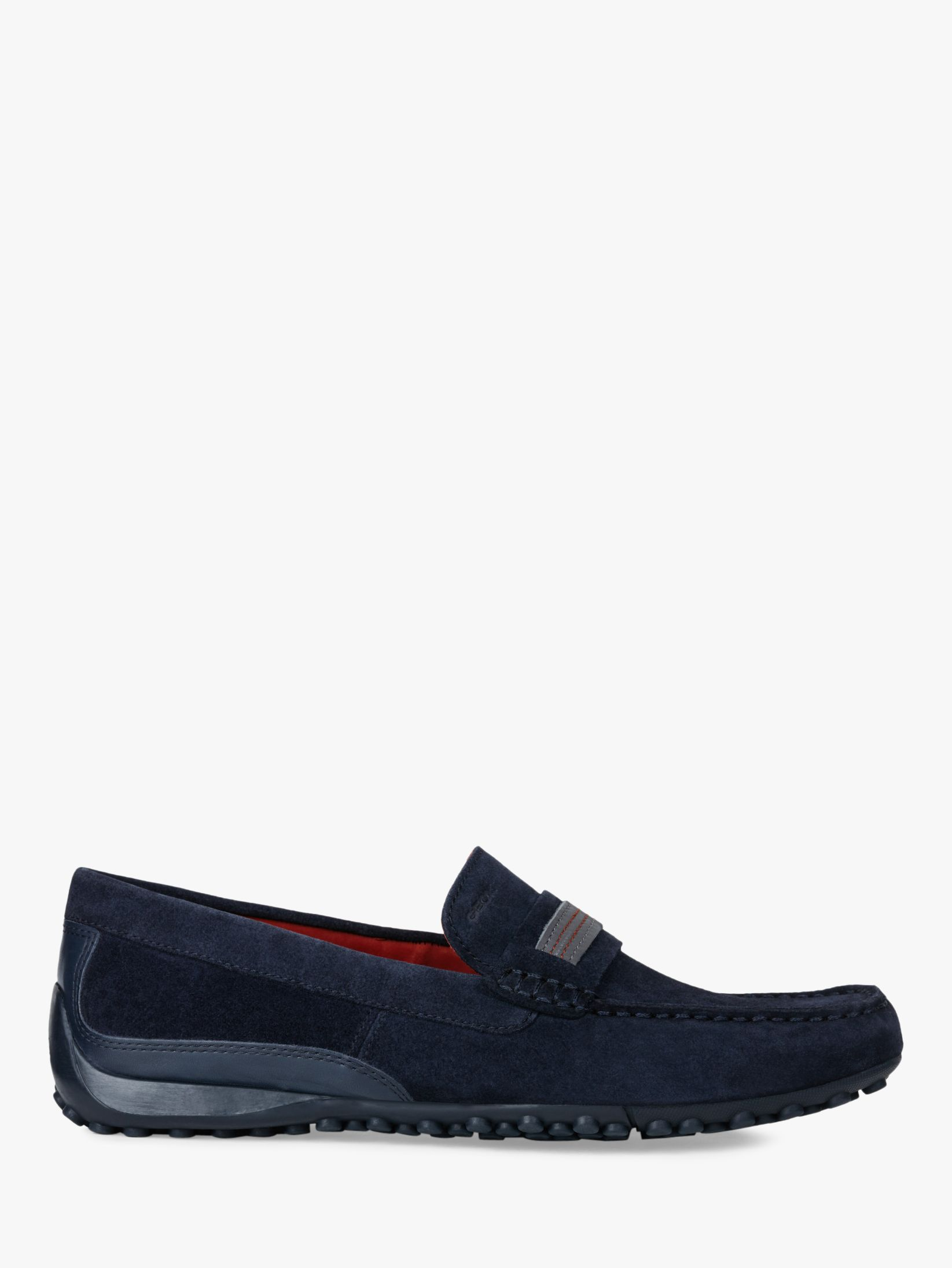 b2f9ab6bac7 Geox Snake Suede Moccasin Shoes at John Lewis & Partners