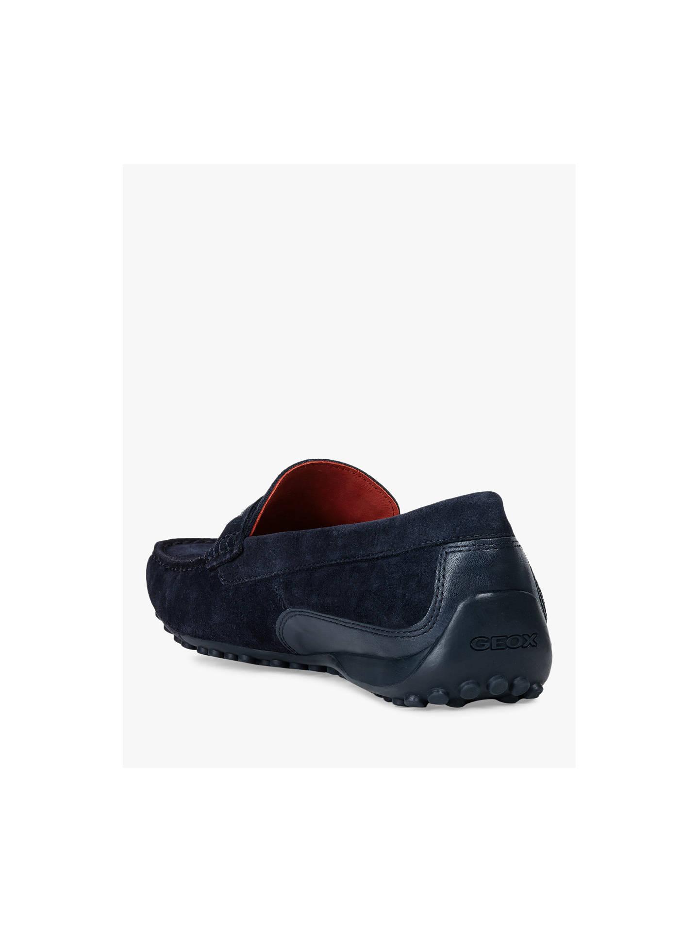 1078d02083c ... Buy Geox Snake Suede Moccasin Shoes, Blue, 10.5 Online at johnlewis.com  ...