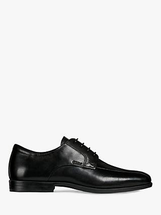 Geox Calgary Leather Derby Shoes, Black