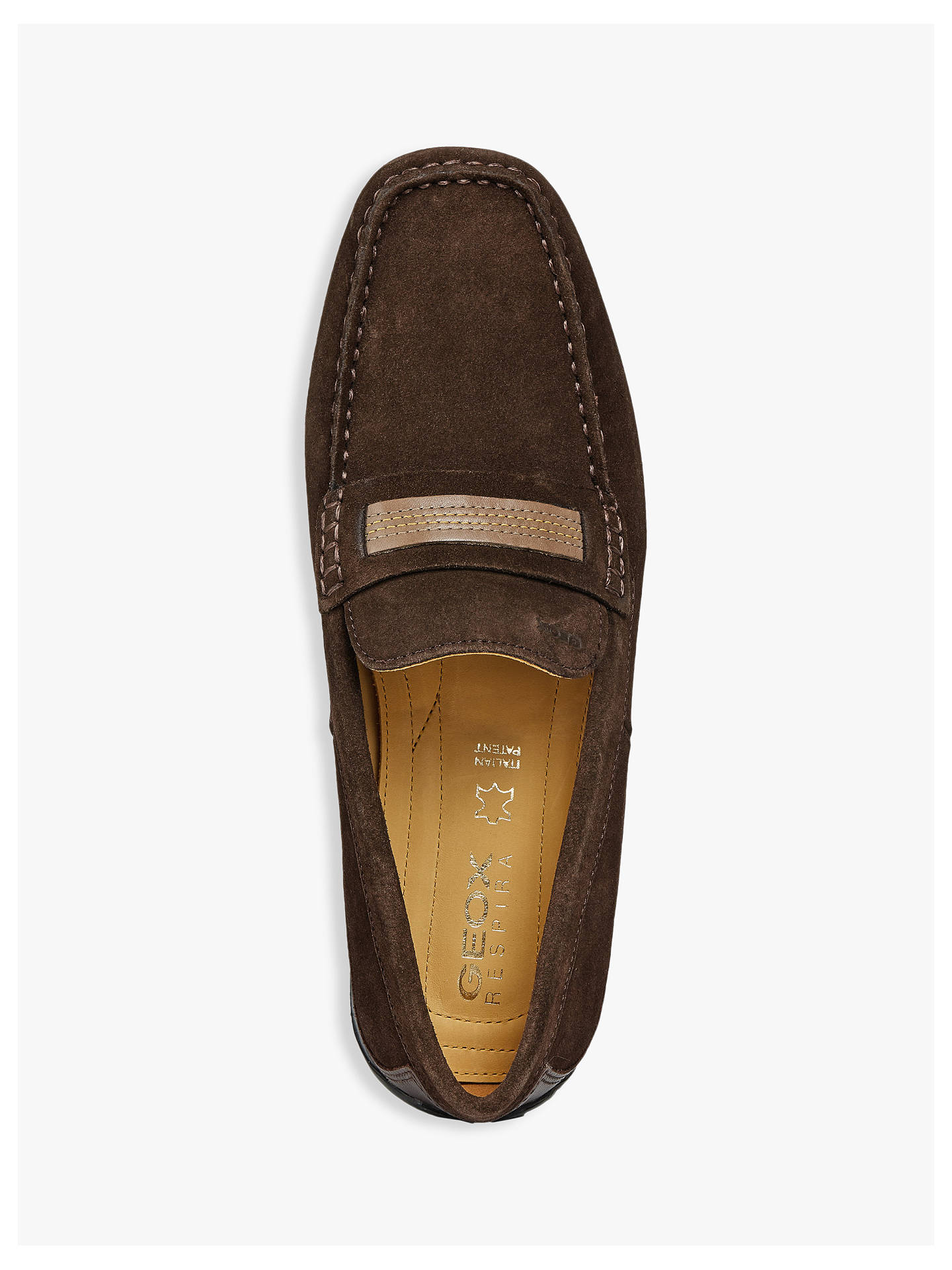 c149509846aff ... Buy Geox Snake Suede Moccasin Shoes, Dark Brown, 8 Online at johnlewis.com  ...