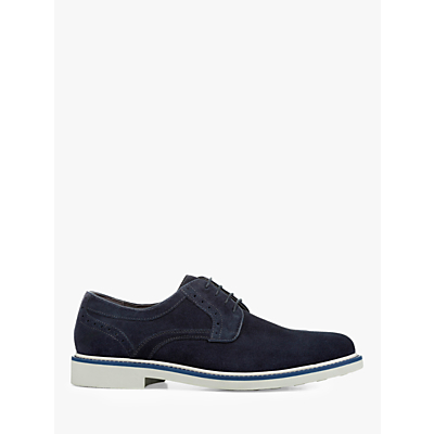 Geox Silmor Suede Derby Shoes, Navy