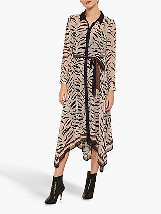 Mint Velvet Nadine Zebra Print Dress, Multi