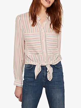 Mint Velvet Stripe Shirt, Multi