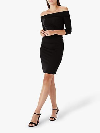 Coast Petra Bardot Jersey Dress, Black