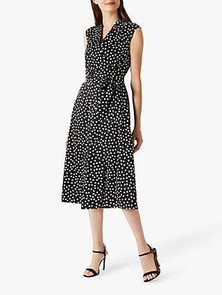 Coast Daisy Spot Shift Dress, Mono