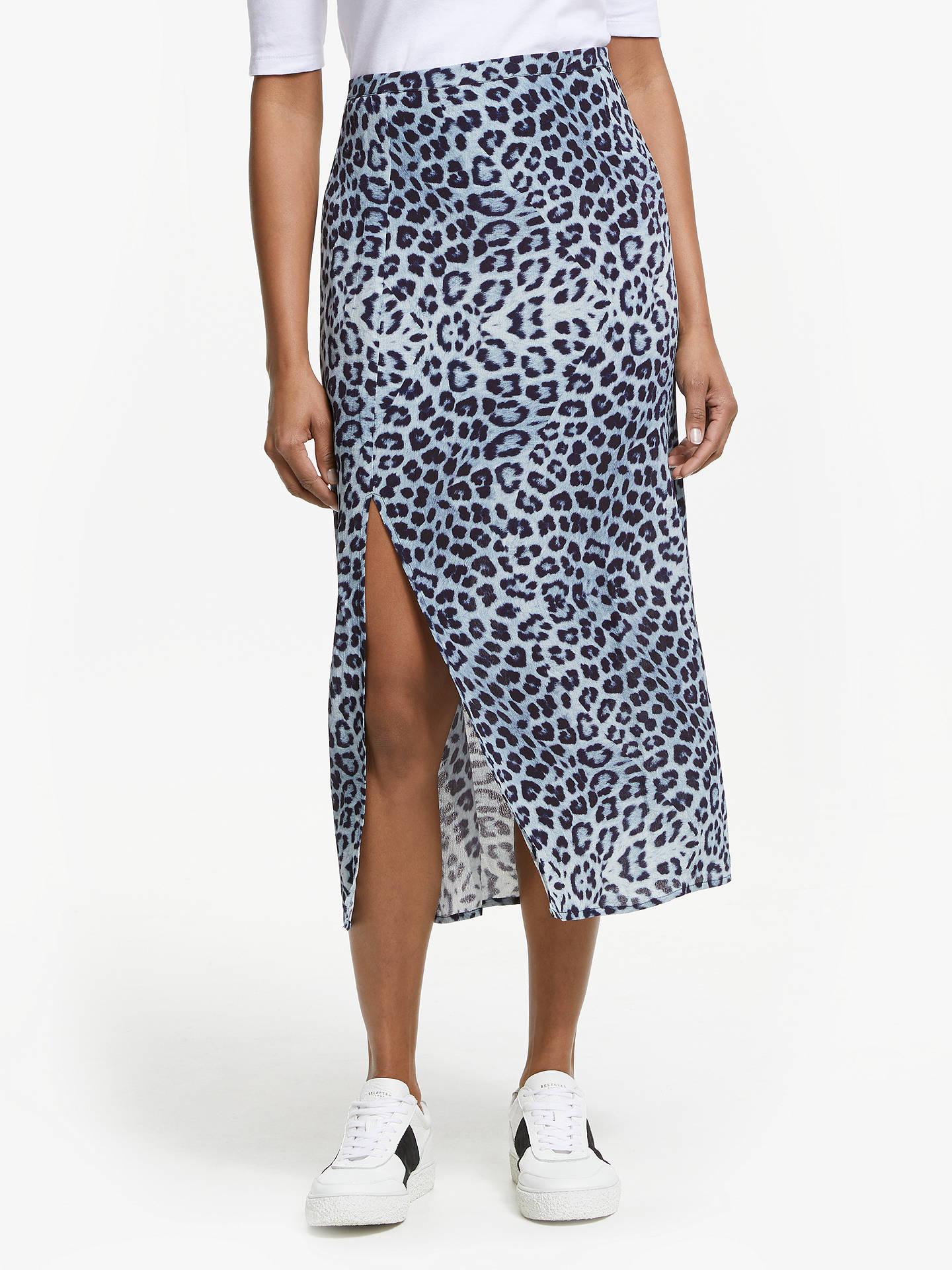 0c07ffba8 Buy Lily and Lionel Grace Animal Print Skirt, Safari Denim, XS Online at  johnlewis ...