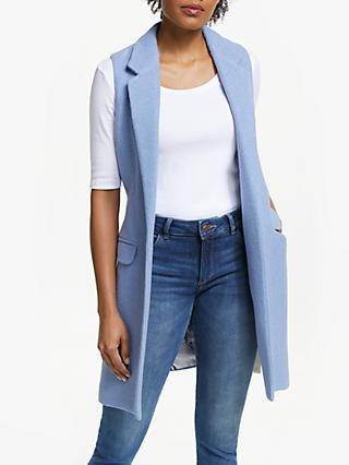 Vilagallo Antonela Jacket, Blue Lana Cotta