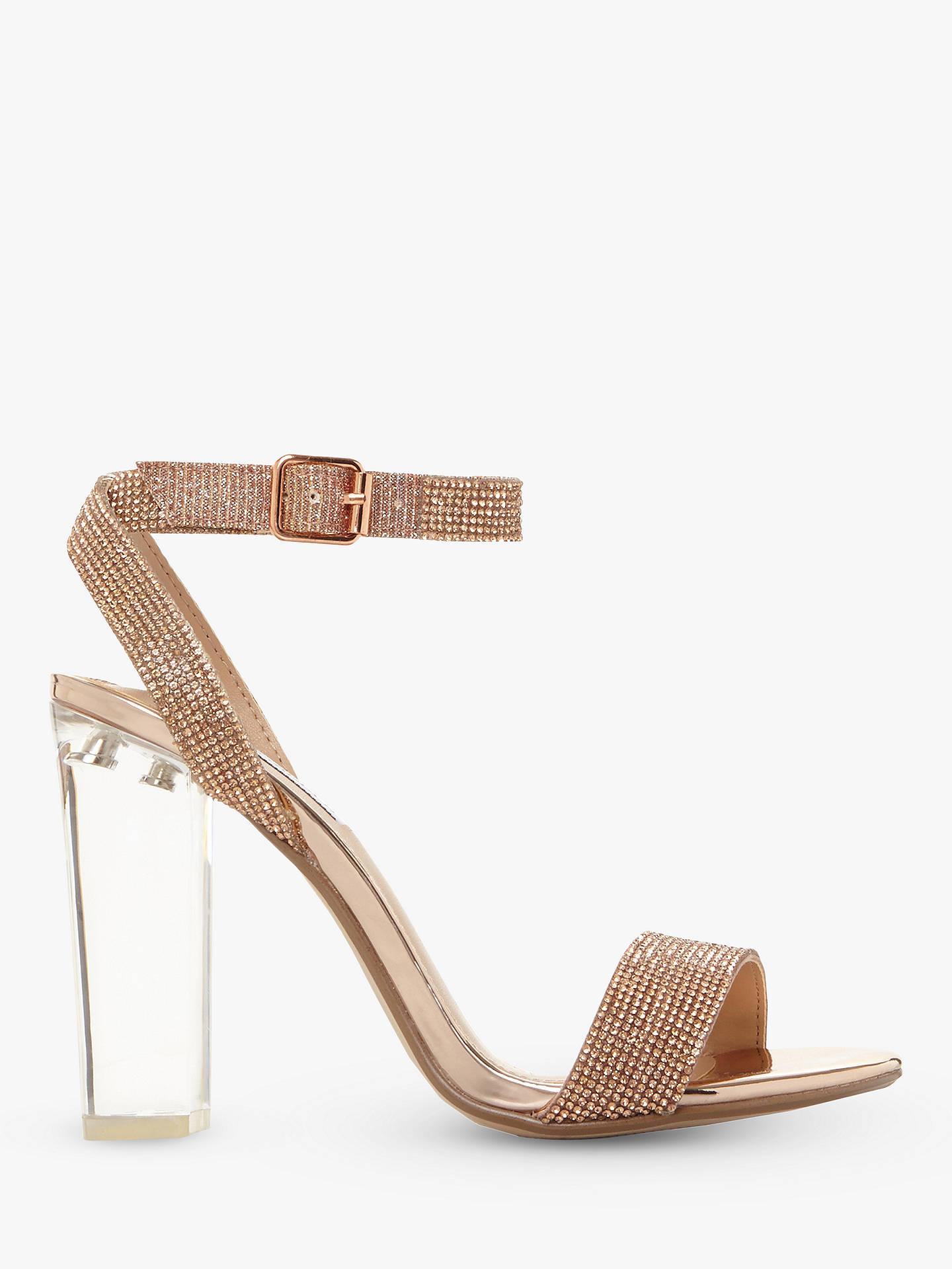 5fef2e39921 Steve Madden Crysler Crystal High Block Heel Sandals at John Lewis ...