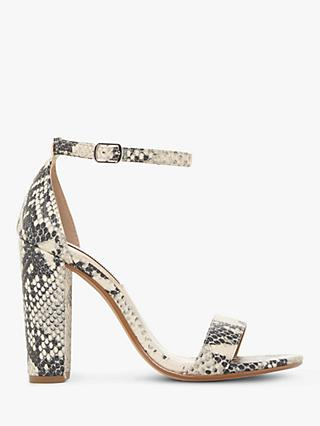 Steve Madden Carrson Two Part Block Heel Sandals, Natural