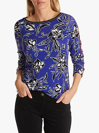 Betty Barclay Floral Print Top, Lilac/Black,