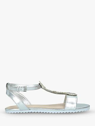 Kurt Geiger London Children's Coral Seahorse Sandals, Silver