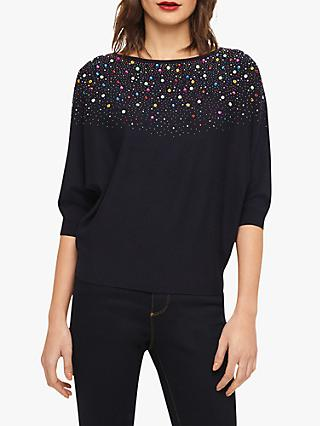367a2a023f7 Phase Eight Cristine Rainbow Embellished Batwing Knit Top