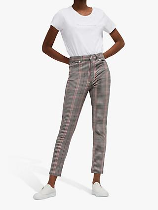 French Connection Tilly Check Skinny Jeans, Multi