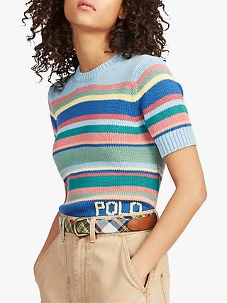 6dfcc49cc20 Polo Ralph Lauren Stripe Short Sleeve Jumper