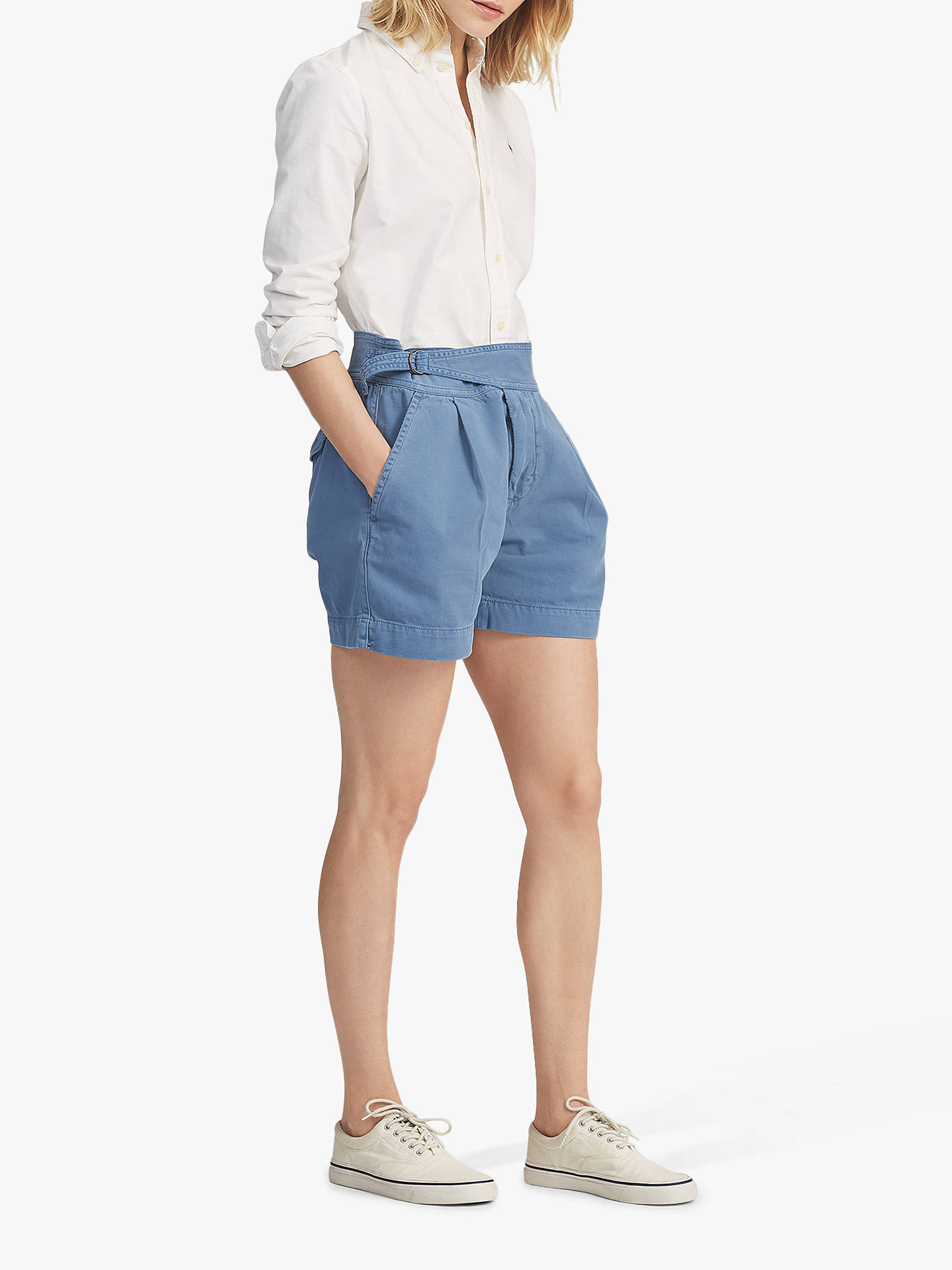 soft and light big selection look for Polo Ralph Lauren Chino Shorts, Capri Blue at John Lewis ...