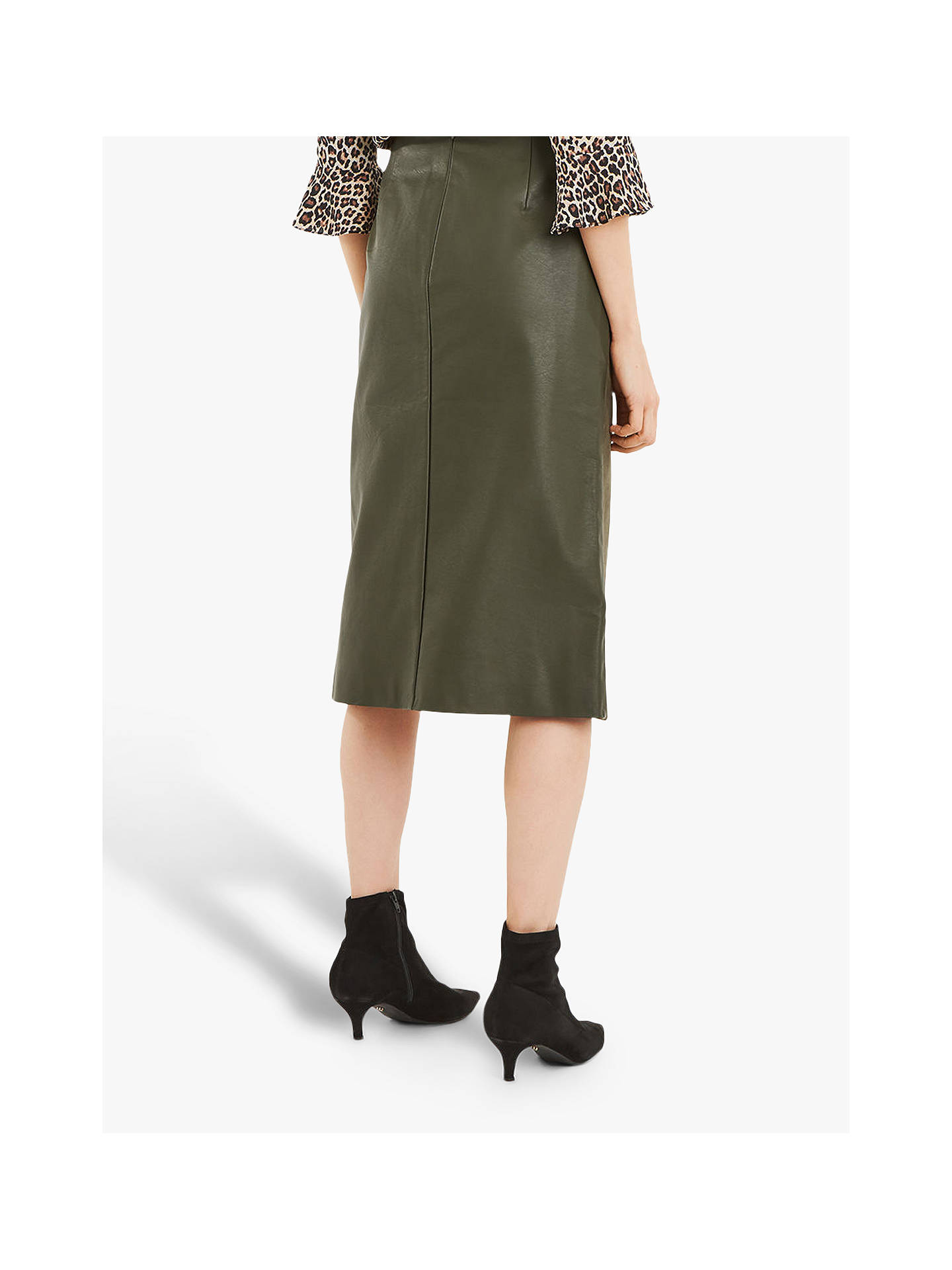 62986731c84d ... Buy Oasis Faux Suede Asymmetric Midi Skirt, Khaki, 10 Online at  johnlewis.com ...