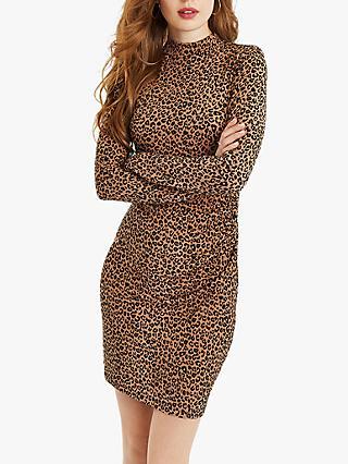 Oasis Animal Print Funnel Neck Bodycon Dress 36a1c7982