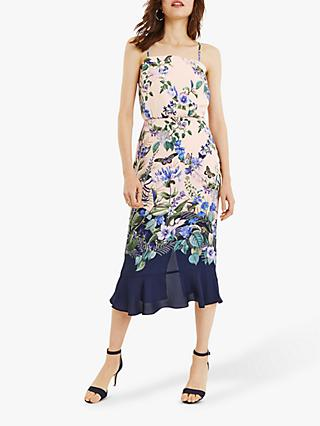 Oasis Bloom Print Column Dress, Multi