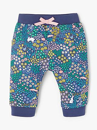 John Lewis & Partners Baby Floral Joggers, Multi