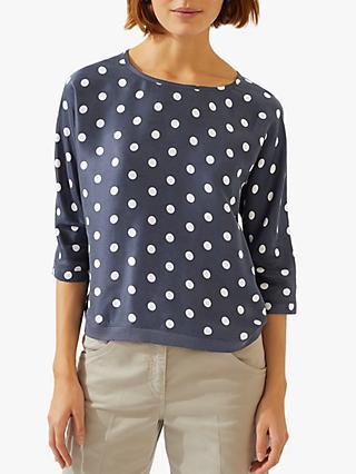 7c807c39f37e0 Jigsaw Dot Print Batwing Silk Top