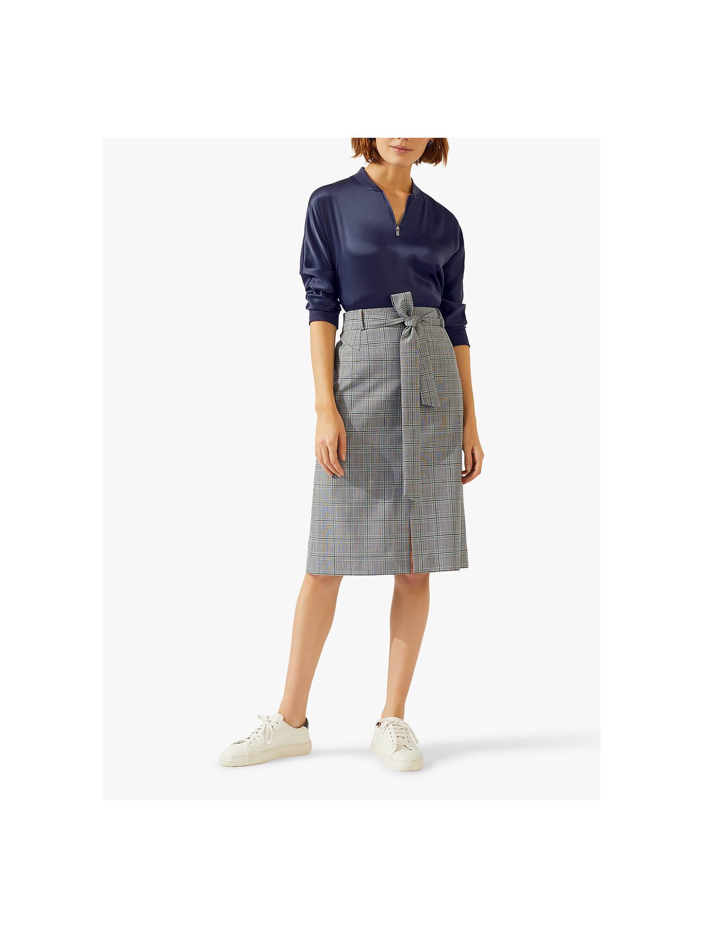 8e8cbbc12d81 ... Buy Jigsaw Monochrome Check Midi Skirt, Multi, 8 Online at  johnlewis.com ...