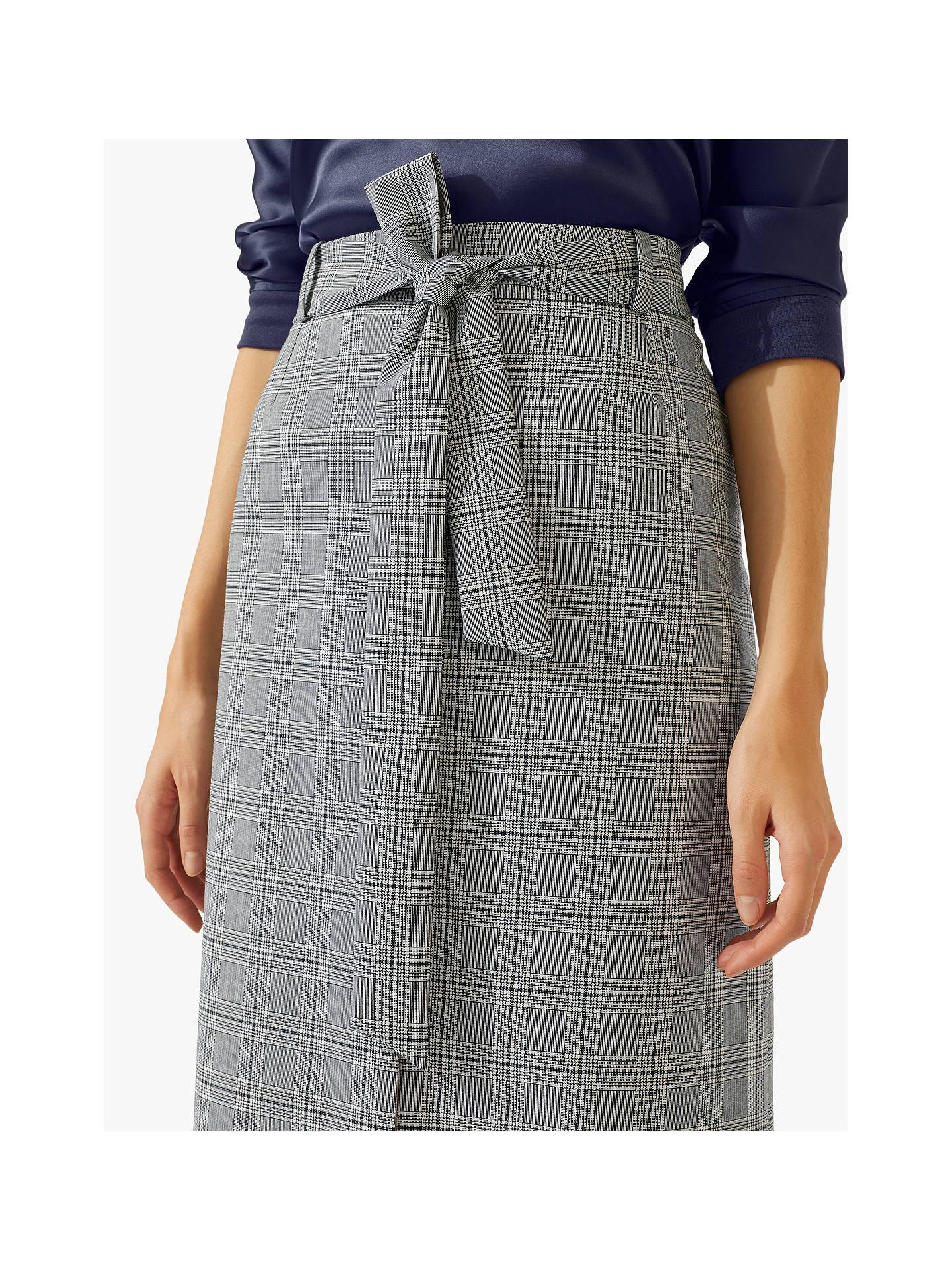 d48ec87dae7f ... Buy Jigsaw Monochrome Check Midi Skirt, Multi, 8 Online at johnlewis.com