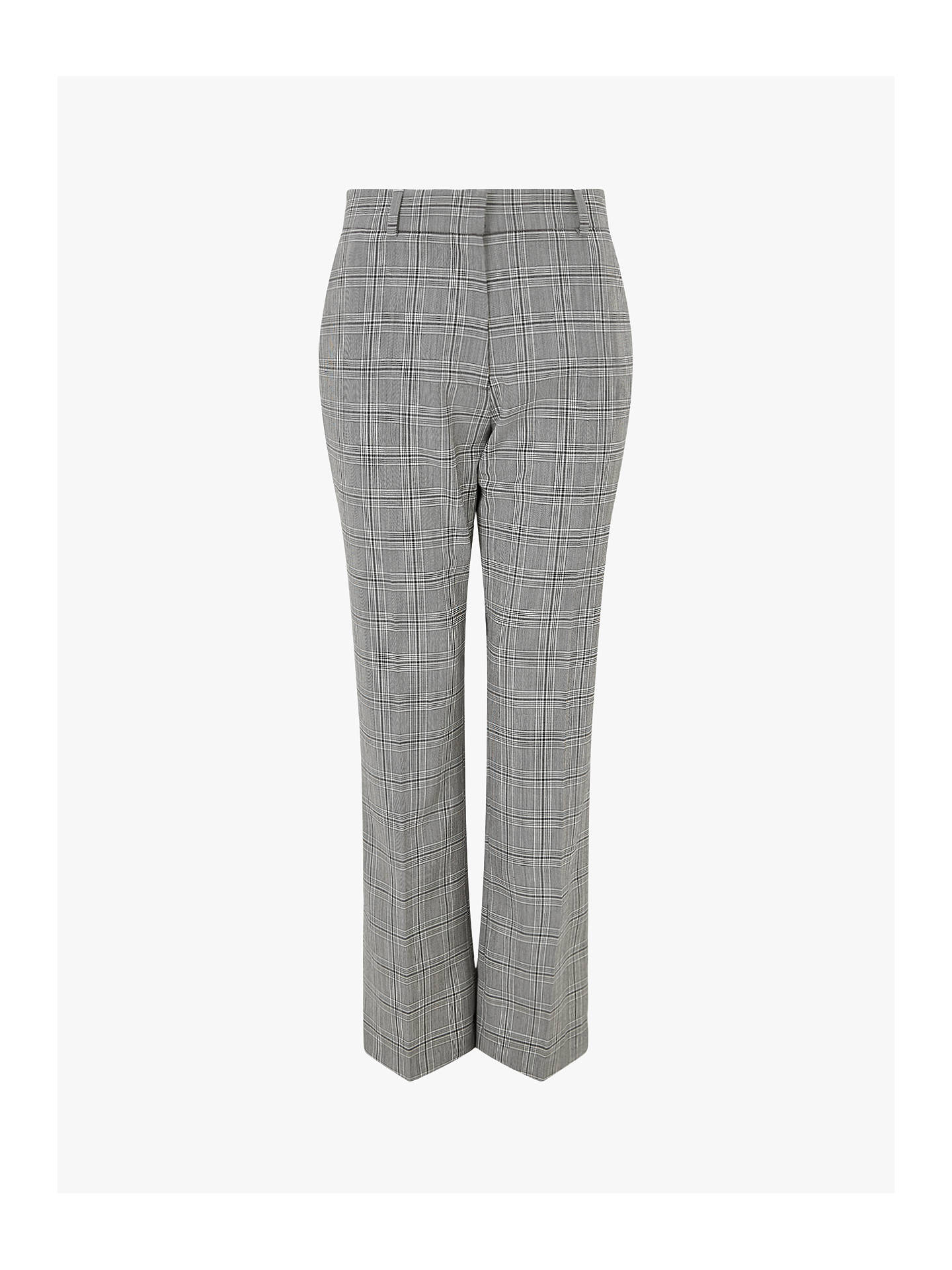 Buy Jigsaw Check Cropped Trousers, Monochrome, 14 Online at johnlewis.com