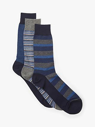 47e298801 John Lewis   Partners Egyptian Cotton Rich Fine Stripe Socks