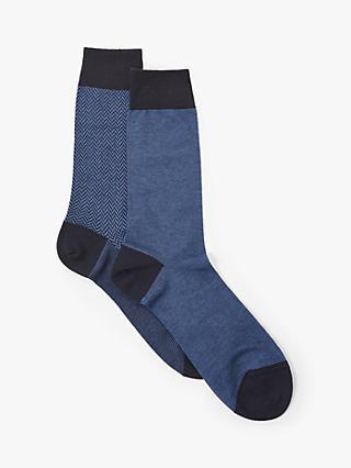 c57c579ee John Lewis   Partners Egyptian Cotton Rich Herringbone Socks